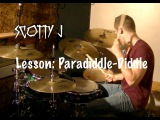 Drum Lesson: Paradiddle-Diddle On The Kit - Scotty J Drumming