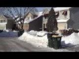 Американская деревня зимой, после морозов