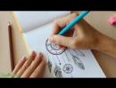 DIY Мой SketchBOOK РИСУЮ Ловец снов Doodling Идеи для скетчбука, ЛД