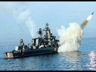 Ракетный крейсер Варяг -флагман тихоокеанского флота.Стрельбы