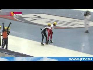 На Чемпионате мира по шорт-треку награду высшей пробы завоевал россиянин Семён Елистратов