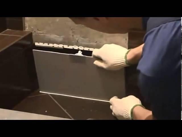 Монтаж пластикового люка под плитку ЛсИС