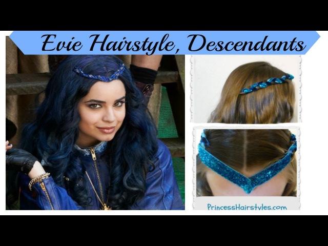 Disney Descendants Hairstyle Evie or Sofia Carson Inspired