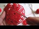 Мотив крючком паутинка Motif crochet web