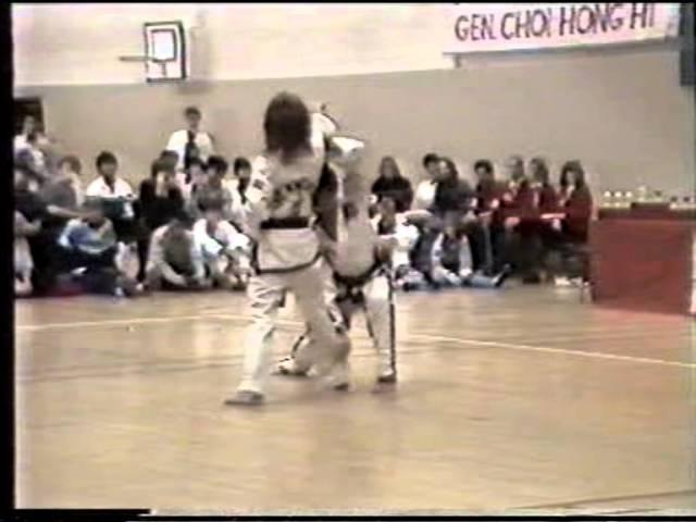 GM Trân Triêu Quân and Sabum Trude Hoff Leirvik performing arranged sparring