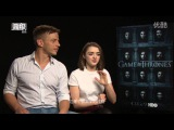 Game of Thrones Season 6 Cast Interview with Maisie Williams and Tom Wlaschiha