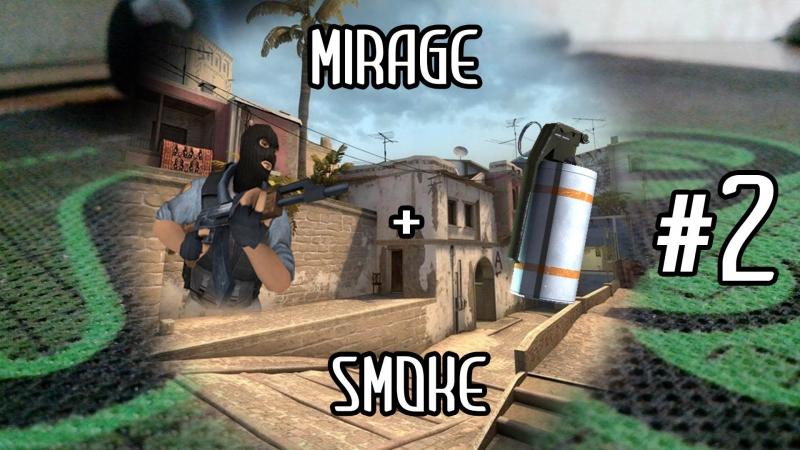 Tactic grenades \ Раскидка гранат de_mirage (smoke2) CS:GO