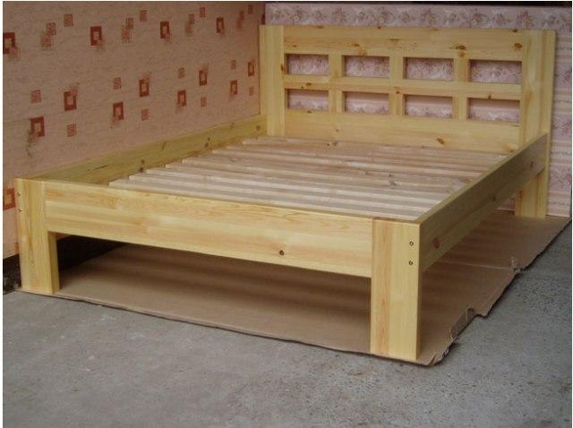 Как сделать двуспальную кровать своими руками из дерева