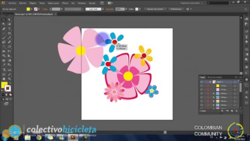 Curso illustrator CS603 Como copiar, agrupar, alinear, bloquear y expandir objetos en illustrator
