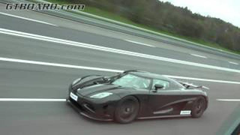 [4k] 250-374 km/h (156-233 mph) RACE Bugatti Veyron vs Koenigsegg Agera R by SNOOT