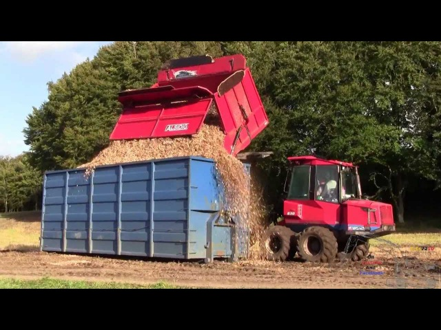 Silvatec 878CH And Valmet 830 Off Loading Woodchips