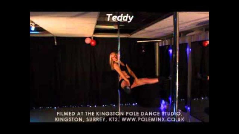 Teddy Bear Pole Dancing Moves Tricks Demo Intermediate