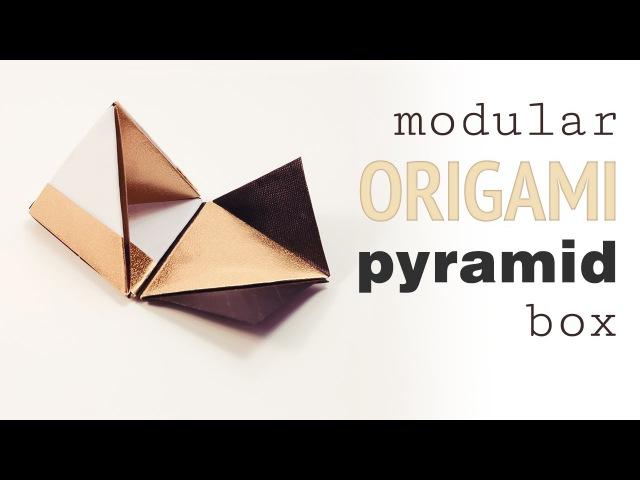 Modular Origami Pyramid Gift Box Tutorial ♥︎ DIY ♥︎