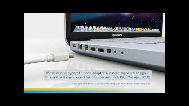 Mini DisplayPort to HDMI Adapter with Audio