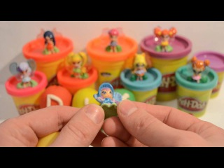 Play doh surprise eggs 2015 - Коллекция киндер сюрприз ПопПикси (PopPixie) Клуб Винкс (Club Winks)