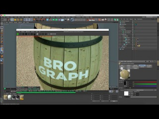 Brograph Tutorial 044 - Build a Barrel in C4D. Texture in Octane.