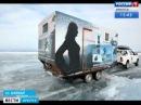 «Baikal moto girls» проехали по льду от посёлка Хужир до Северобайкальска