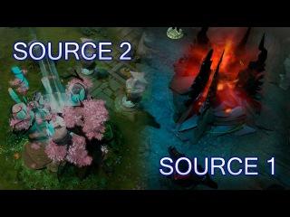 Source 2 and Source 1 comparison — Dota 2 Reborn update