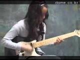 Korean Girl Guitar Funk Jam