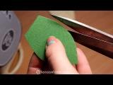 Зеленый листик из фоамирана