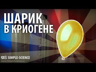 Шарик в криогене (-170°C) - опыты с жидким азотом