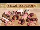 Полимерная глина - КОЛБАСА салями и ветчина / Polymer clay salami and ham / Светлана Няшина