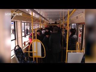 Рустам Минниханов прокатился по новой трамвайной ветке в Набережных Челнах. 12.12.2014 г.