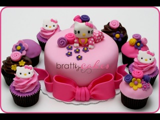 HELLO KITTY# Birthday cake and cup cakes slideshow
