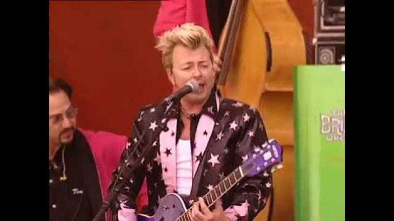 Brian Setzer Orchestra - This Cat's On A Hot Tin Roof - 7/25/1999 - Woodstock 99 (Official)