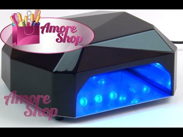 УФ CCFLLED гибридная лампа для ногтей Многогранник. Видео обзор от AmoreShop