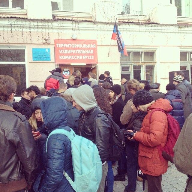 участки благополучно открылись в Донецке
