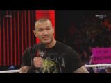 Randy Orton and Dean Ambrose vs Lita Victoria  Trish (Heel Divas) Mickie James Commentary