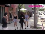 24 октября 2015: Кара, Кендалл Дженнер и Джиджи Хадид на прогулке, Лос-Анджелес