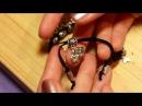 Плетение браслета Шамбала из металлических шармов с подвесками How to make shambala