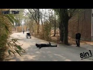 Подборка пранков - убийство из пистолета / fake gunshot prank - compilation