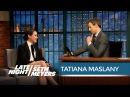 Orphan Black's Tatiana Maslany on Her Emmy Snub Late Night with Seth Meyers 14 05 2015