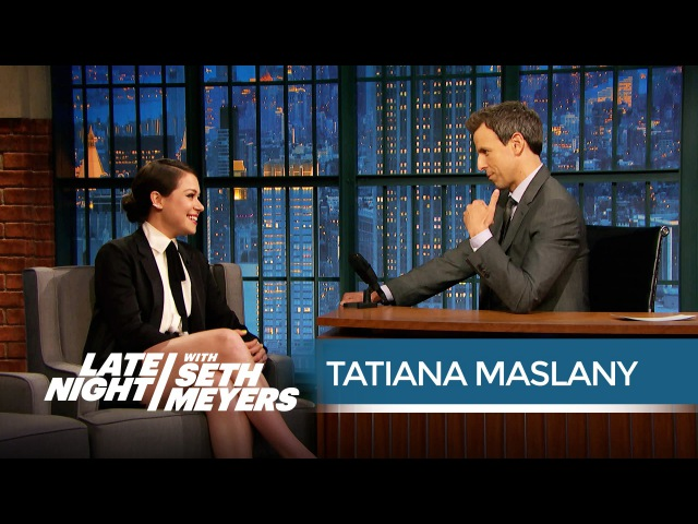 Orphan Black's Tatiana Maslany on Her Emmy Snub - Late Night with Seth Meyers 14.05.2015