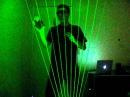 Photon Acceleration on the Laser Harp