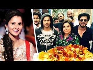 Shahrukh & 'Dilwale' Crew Have Sania Mirza's Biryani | #LehrenTurns29