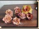 Как сделать розы из осенних листьев
