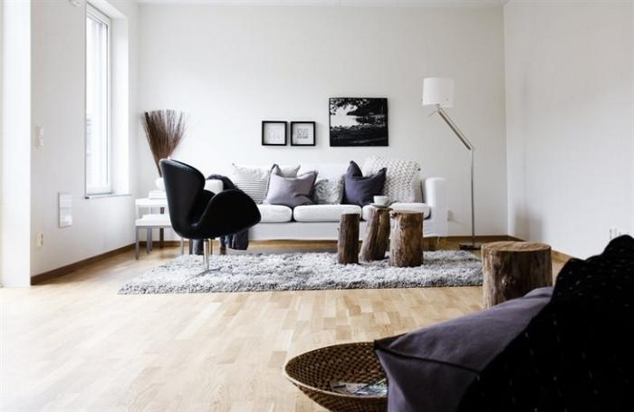 Натуральный пенек из дерева в декоре и дизайне интерьеров