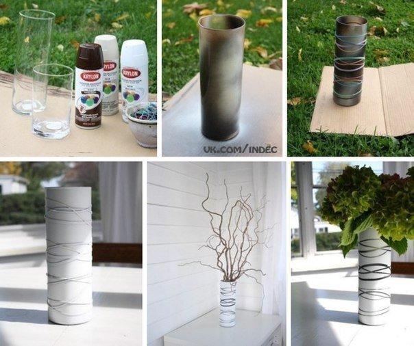 Декорируем вазы своими руками фото
