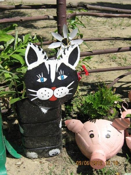 Materiales gr ficos gaby ideas recicladas para decorar el for Como decorar el jardin con cosas recicladas
