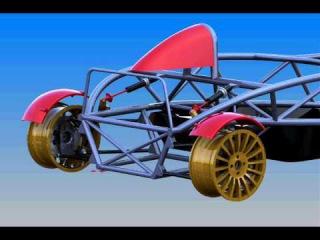 Solidworks Sport car rear suspension simulation