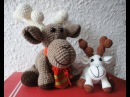 Рождественский ОЛЕНЬ Ч-4 Christmas deer P-4 Crochet