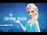 Рисуем Эльзу из холодного сердца/Disney frozen draw