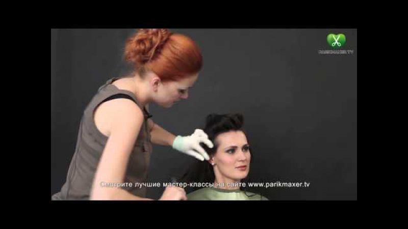 Свадебная прическа в греческом стиле Юлия Гузнова парикмахер тв parikmaxer tv