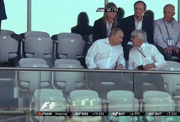 Владимир Путин обсуждает с Берни Экклстоуном будущее
