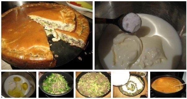 Как сделать тесто для пирога с фаршем на кефире