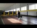 Strongman. Farmers Walk - 2x100 kg for 100 meters 3 turns. My student A.Novikov Ukraine